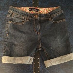 Mini Boden girls jean shorts